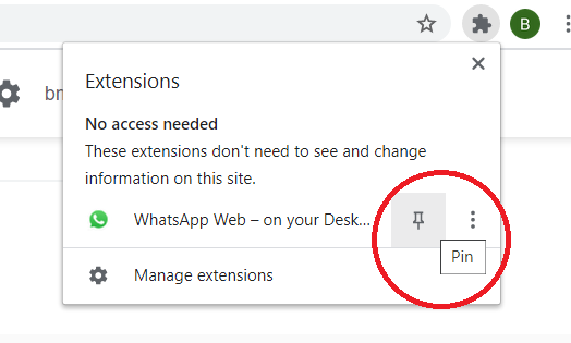 use WhatsApp For PC using Chrome Extension